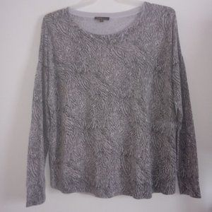 DALIA* WOMENS (M) NEUTRAL-TONED, ABSTRACT SWEATER